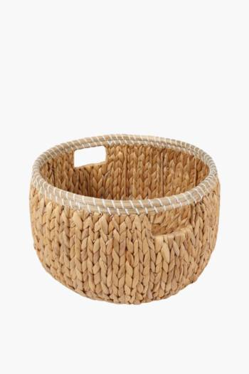 Hyacinth Round Weave Baskest, Large