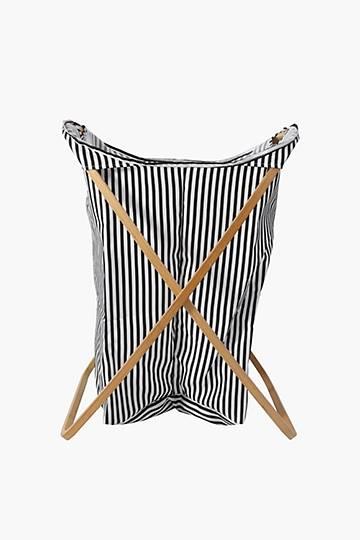 Pinstripe Butterfly Laundry Basket, Large