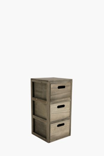 Wooden 3 Draw Storage Unit