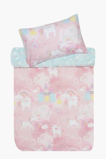 Polycotton I Heart Unicorns Duvet Cover Set