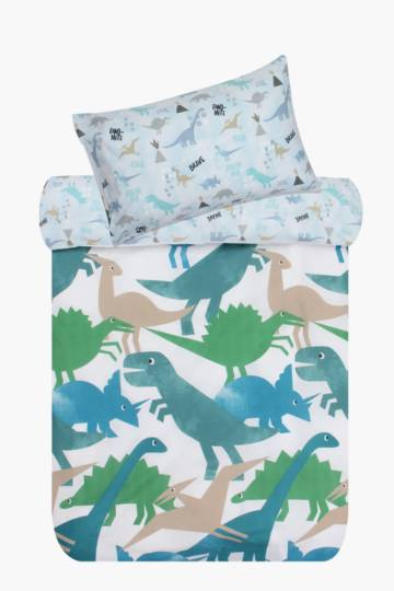 Sketch Dino Cut Out Duvet Cover Set