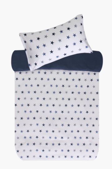 100% Brushed Cotton Star Duvet Cover Set