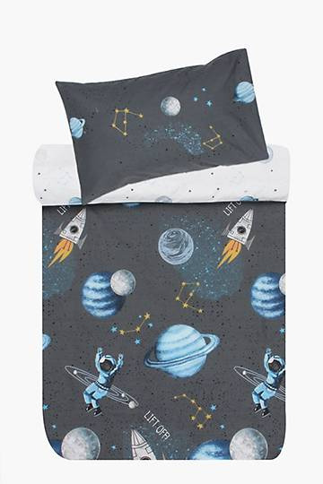 Printed Polycotton Astro Party Duvet Cover Set