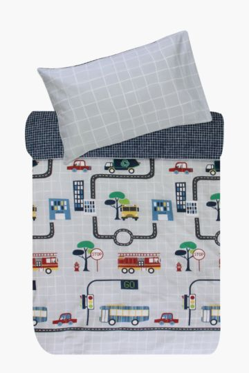 Polycotton Bus Route Duvet Cover Set