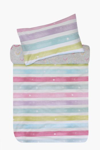 Polycotton Rainbow Love Duvet Cover Set