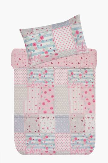 Microfibre Butterfly Patchwork Comforter Set