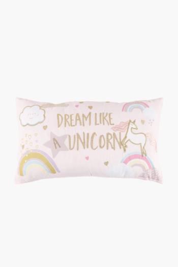 Dream Unicorn Scatter Cushion, 30x50cm