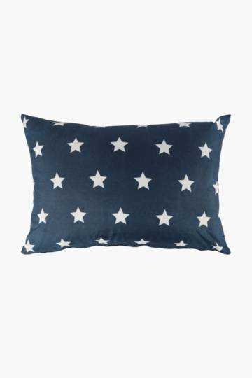 Microfibre Printed Stars Scatter Cushion, 30x50cm