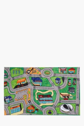 Non-slip Road Map Printed Rug, 120x180cm