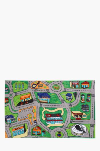 Non-slip Road Map Printed Rug, 120x180cm