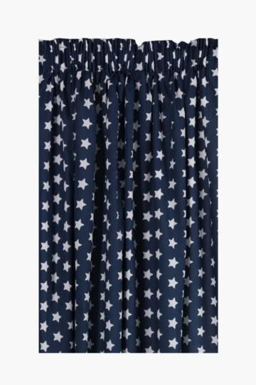 Printed Stars Curtain, 230x218cm
