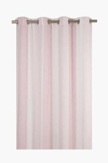 Linen Eyelet Stripe Curtain, 140x225cm