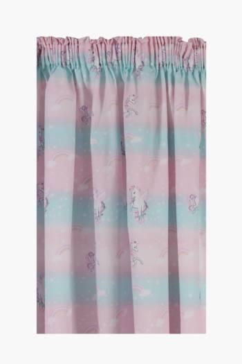 I Heart Unicorns Taped Curtain, 230x218cm