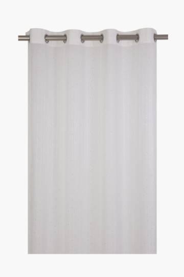 Sequin Textured Voile Eyelet Curtain, 218x230cm