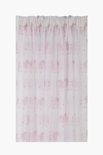 Embroidered Unicorn Voile Curtain, 230x218cm