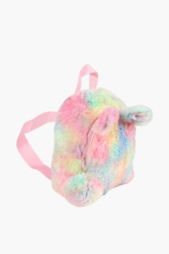 Faux Fur Pastel Back Pack