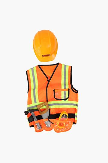 Dress Up Construction Worker Playset