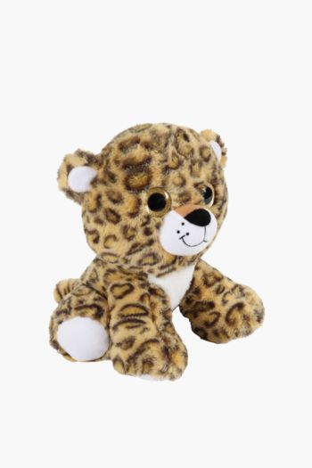 Glitter Eye Leopard Soft Toy