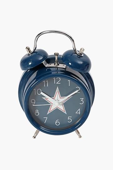 Twin Bell Star Clock