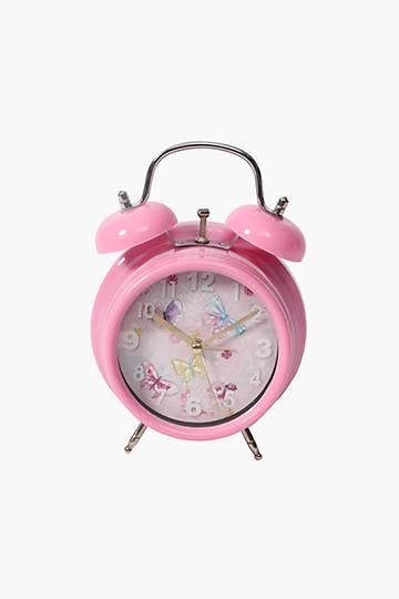 Twin Bell Butterfly Clock