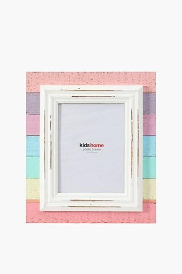 Wooden Rainbow Photo Frame, 15x20cm