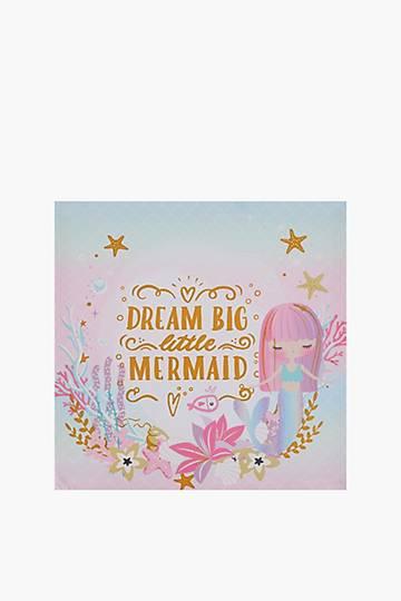 Mermaid Script Canvas, 40x40cm
