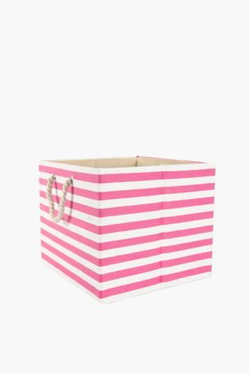 Stripe Toy Basket