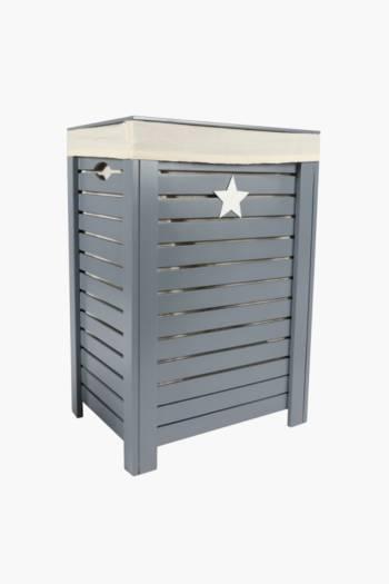 Wooden Laundry Star Basket