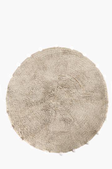 Round Pom Pom Rug