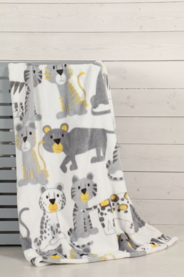 Super Plush Wild Cats Blanket, 70x110cm