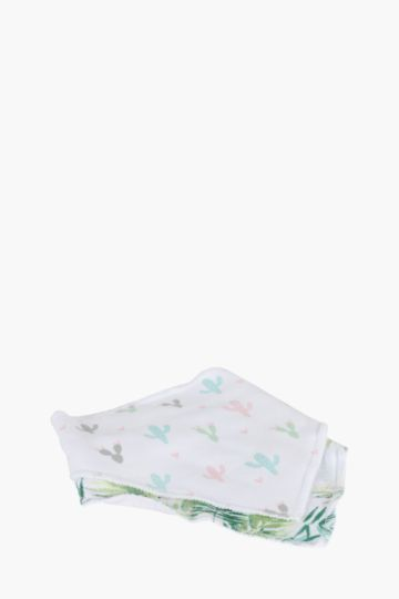 Pack Of 2 Tropical Cotton Bibs