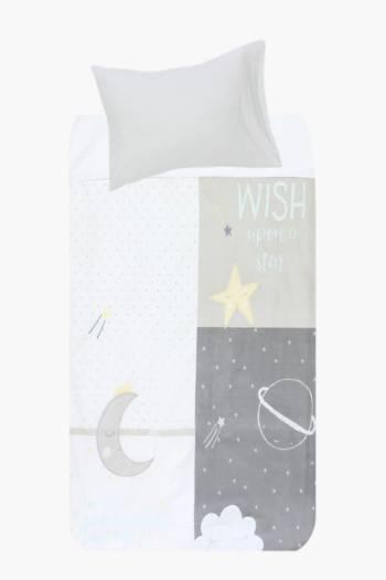 100% Cotton Sleep Time Baby Duvet Cover Set