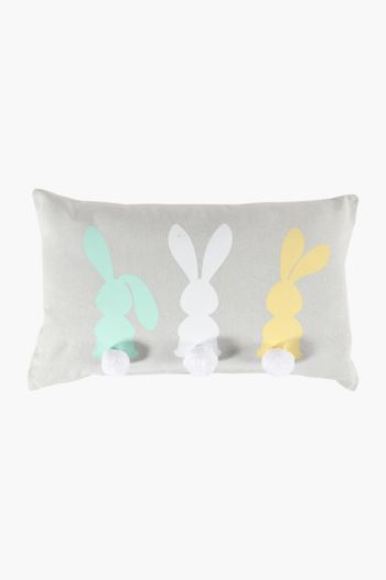Cotton Bunny Tail Cushion, 30x50cm