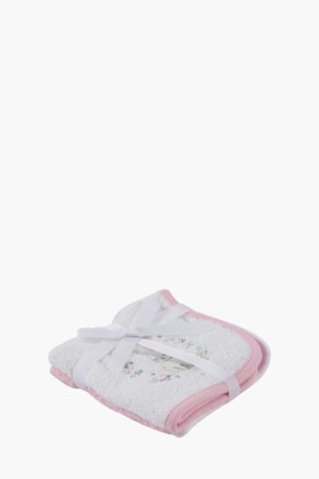Pack Of 2 Cotton Bunny Love Face Cloths