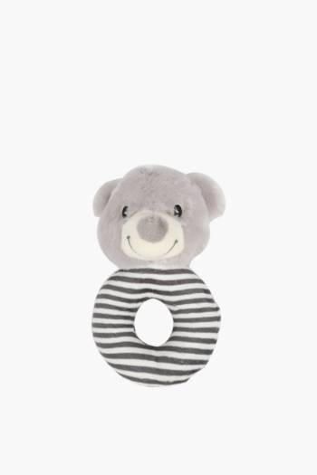 Stripe Bear Rattle Soft Toy
