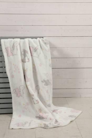 Super Plush Bunny Garden Blanket