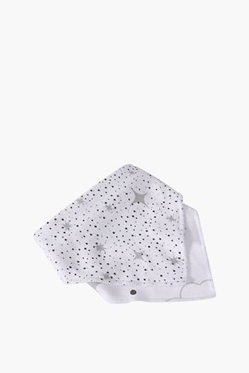 2 Pack Moon And Star Bibs