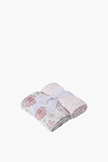 2 Pack Floral Love Muslin Cloths
