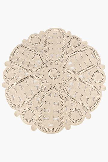 Lace Rope Round Rug,120cm