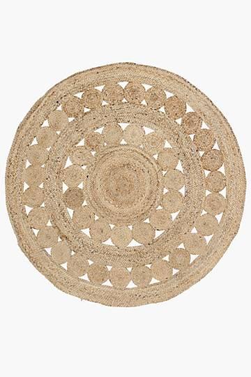 Crochet Jute Rug Large,90cm