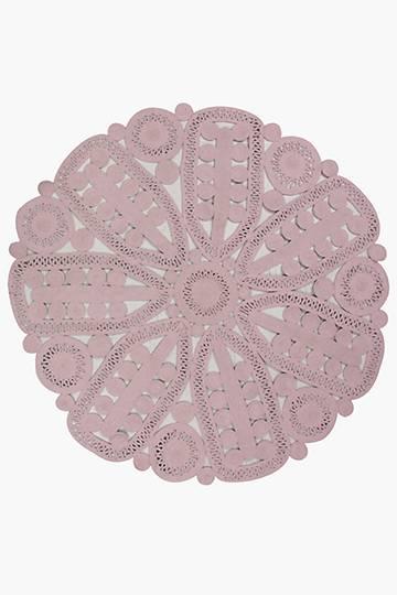 Crochet Lace Round Rug, 180cm