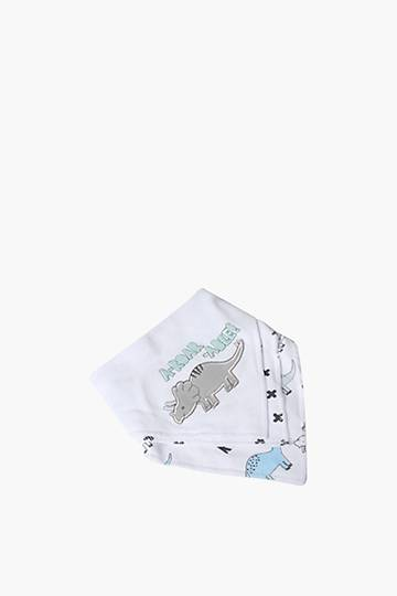 3 Pack Embroidered Dino Bibs