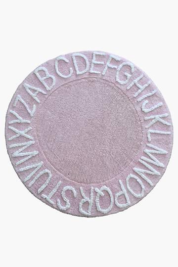 Round Alphabet Rug, 120cm