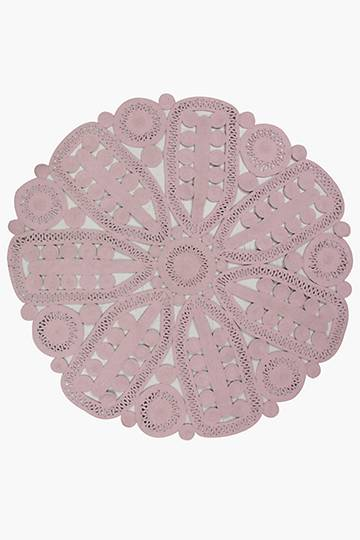 Crochet Lace Round Rug, 90cm