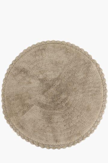 Crochet Border Rug, 95cm