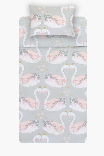 100% Cotton Swan Baby Duvet Cover Set