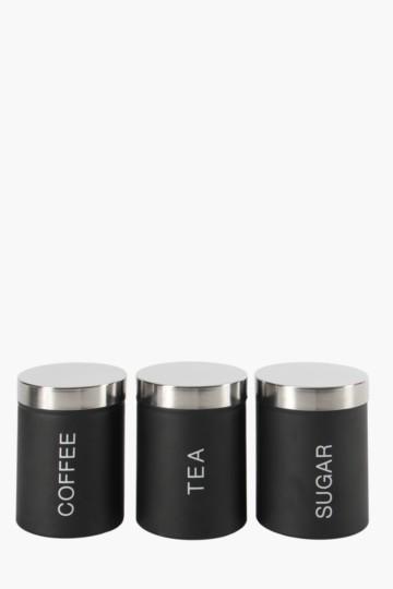 Set Of 3 Belly Tapered Canisters