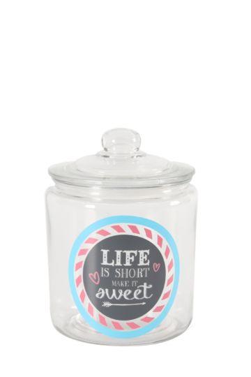 Decal Glass Cookie Jar