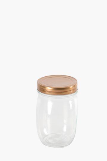 Milan Glass Storage Jar, 1050ml