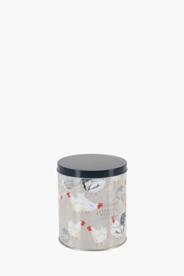Rooster Tin Canister